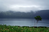 Кунашир. Кальдера вулкана Головина. Озеро Горячее.