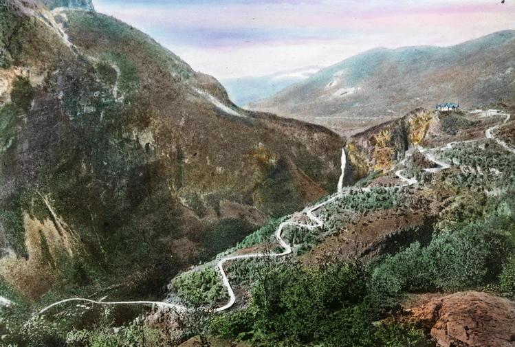 Stalheimskleiva в 1910-м.