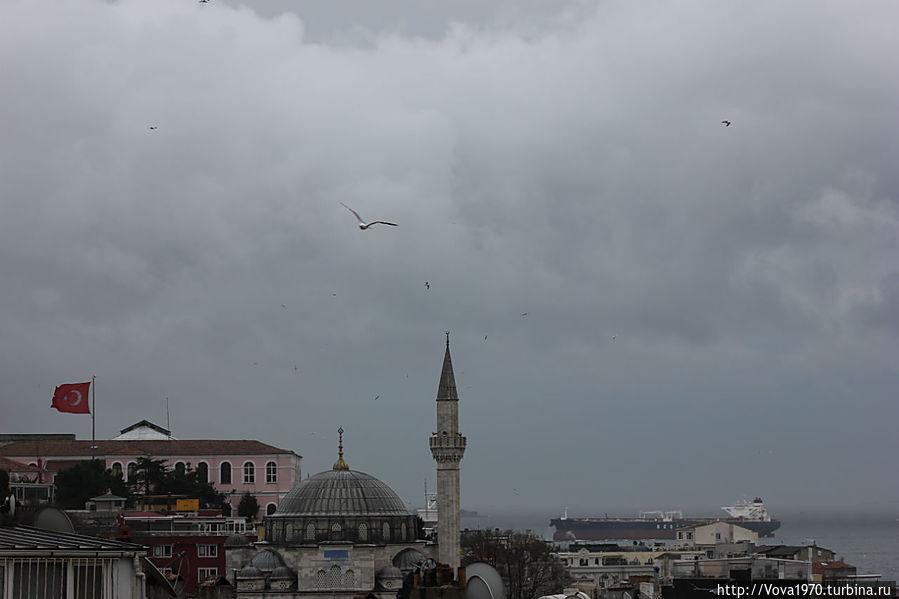 Мечеть Соколлу Мехмет Паша в пасмурный день.