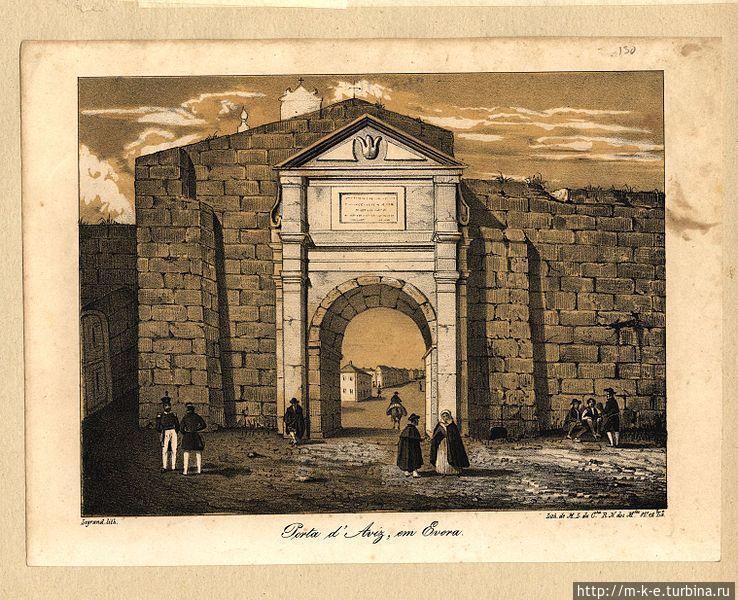 Porta de Avis — гравюра 1