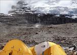 Последние мгновения схода ледовой лавины