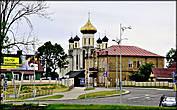 Церковь Всех Святых  Построена в 1990г. Находится на ул. Комсомольской, рядом с городским рынком.