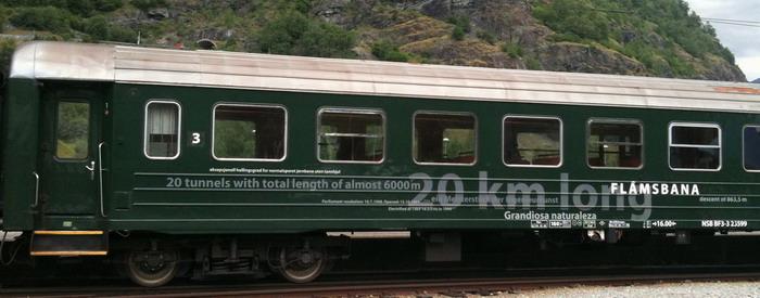 Вагон B3 — основа Фламсбаны. Это самые старые вагоны на норвежских железных дорогах (выпускались в 62-74 годах).
