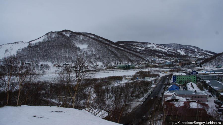 Вид на Авачискую бухту от Камчатского Свято-Пантелеимонова мужского монастыря