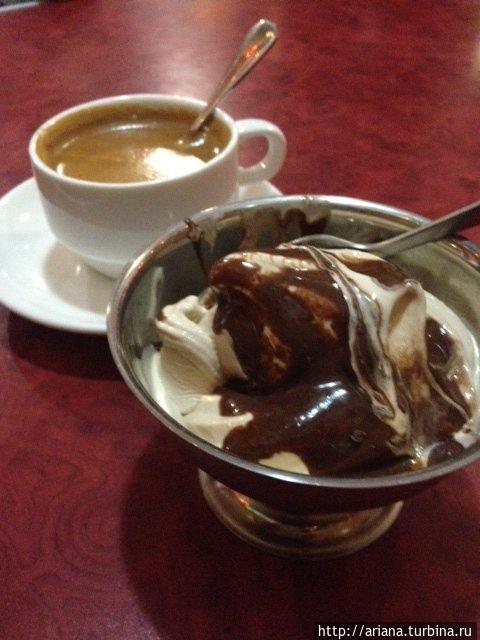 Самое вкусное на свете мороженое. И какой-то особенный кофе