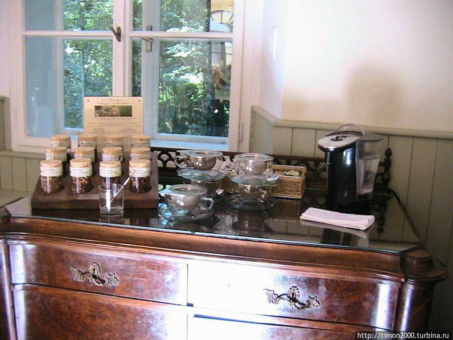 Чайный стол на завтраке