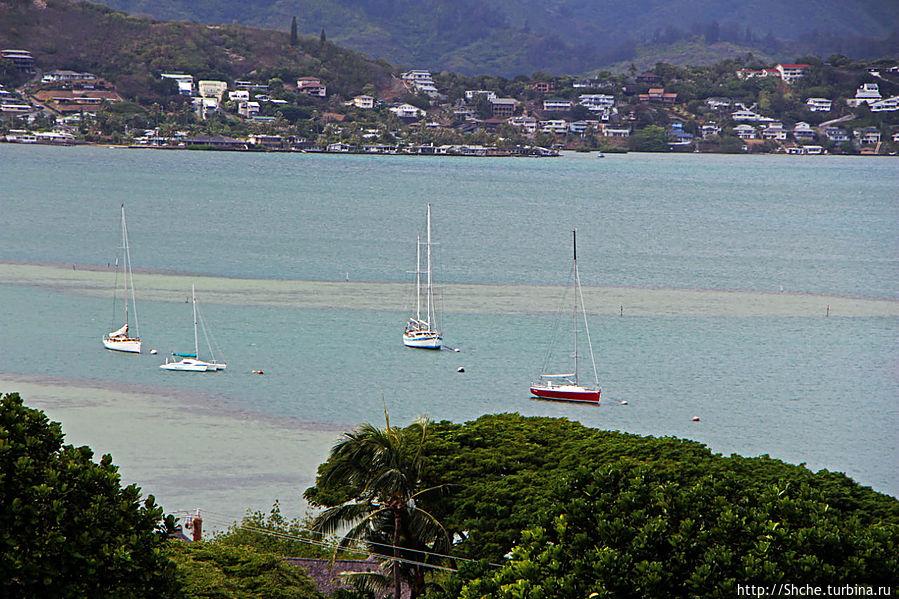 Панорама залива и города Канеохе  на востоке острова Оаху Канеохе, Соединенные Штаты Америки
