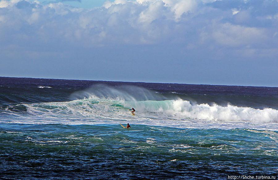волны покорят серферы