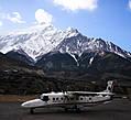 аэропорт Джомсома на высоте 2800 м, Гималаи, Непал