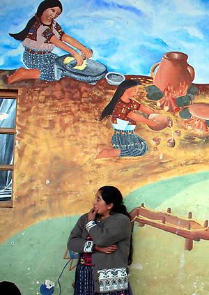 Настенные росписи в Чичикастенанго
