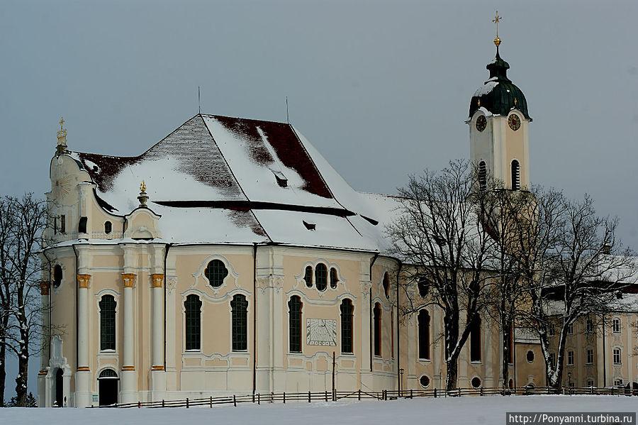 Паломническая кирха Бичуемого Христа Штайнгаден, Германия
