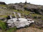 Такое дерево с разбитых штормами кораблей очень ценилось исландцами. Вот так — кому смерть, а кому на этом горе новый дом или мебель.