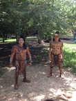 Индейцы майя в национальной одежде.