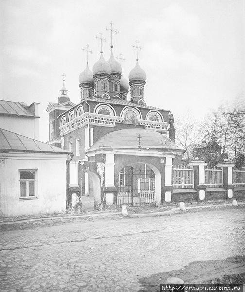 Церковь Покрова в Голиках, на Малой Ордынке (фотография 1882 года)