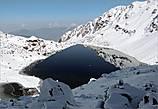 Озеро Госайкунда. Разыгравшаяся накануне метель полностью изменила виды, окружавшие озеро