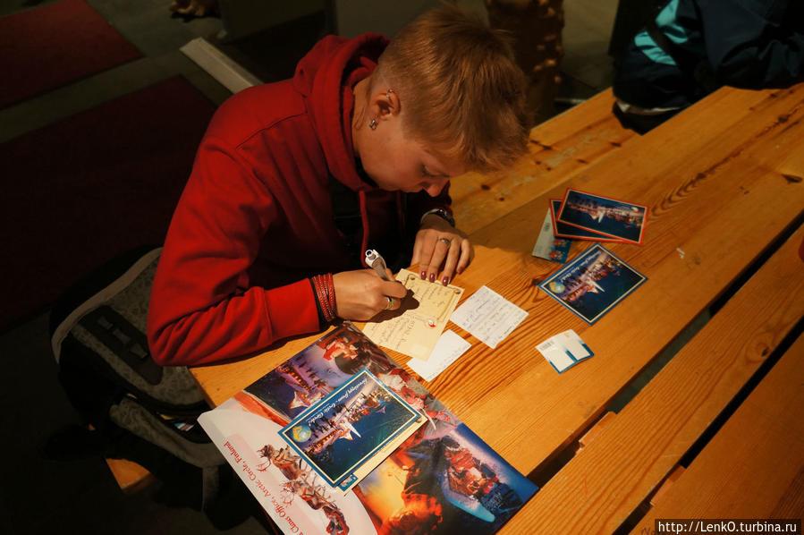 подпись открыток, наклеивание марок