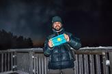 алматинский путешественник Андрей Гундарев (Алмазов) на высшей точке Литвы в рамках проекта