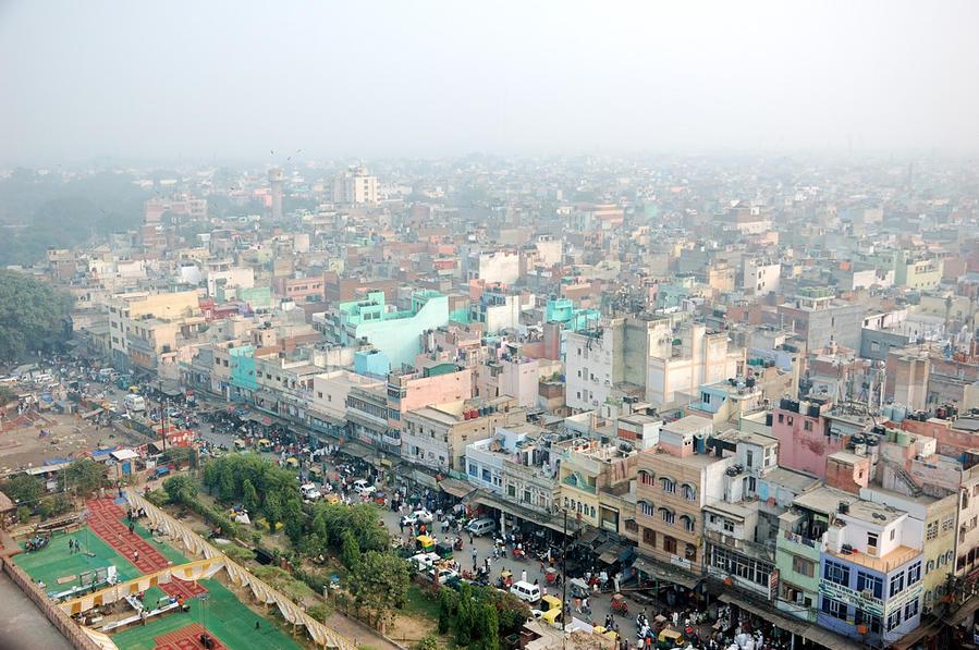 Вид с минарета на город