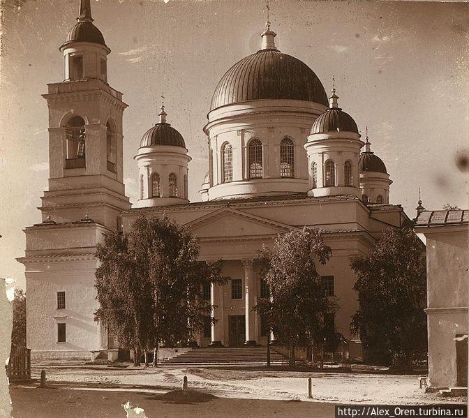 Фото Прокудина-Горского 1910 года. Собор Александра Невского.