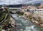 Через город протекает речка Rio Quilcay