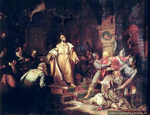 Н.Шустов. Иван III топчет ханскую басму