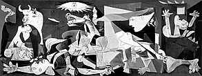 В 1940 году через некоторое время после вступления германских войск в Париж к Пабло Пикассо пришли из гестапо. На столе художника находились открытки с репродукцией