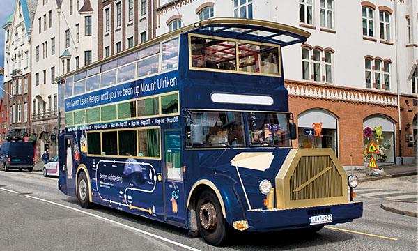Найти автобус на Ульрик просто — даблдекер виден издалека.