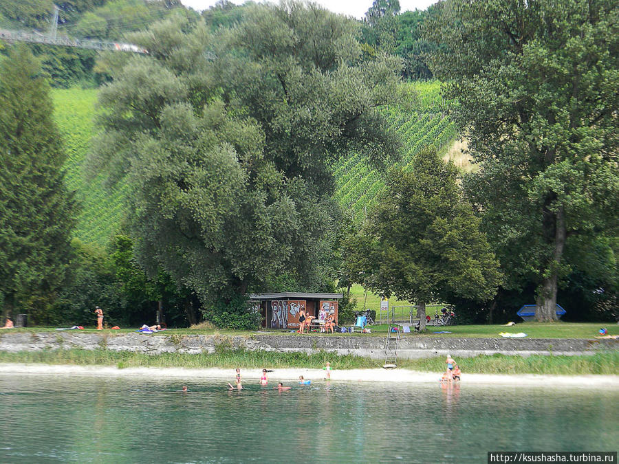 Вниз по течению Шаффхаузен, Швейцария