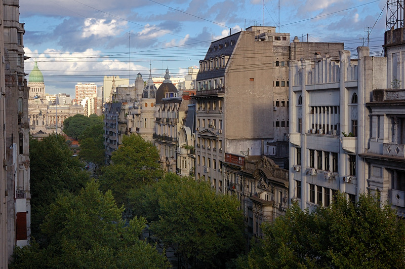 Вид с балкона отеля на парламент Аргентины