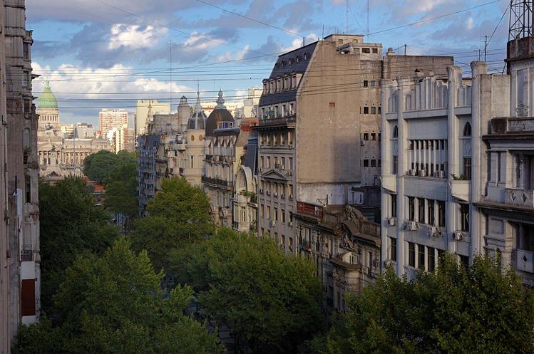 Вид с балкона отеля на па
