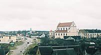 Общий вид монастыря и костела (вид сзади)