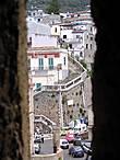 Вид из замка Руффо на город.