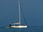 Яхта прошла в сторону Рыбачьего  вечером, и вернулась когда уже Луна светила