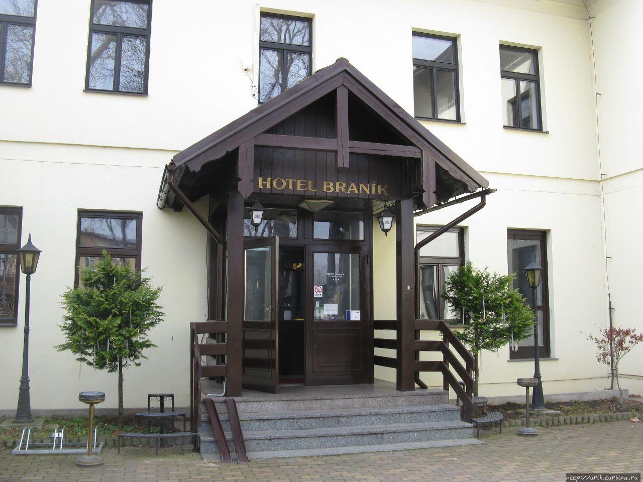 В этом отеле в Праге мы н