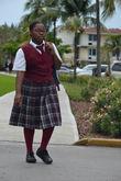 Багамская школьница.