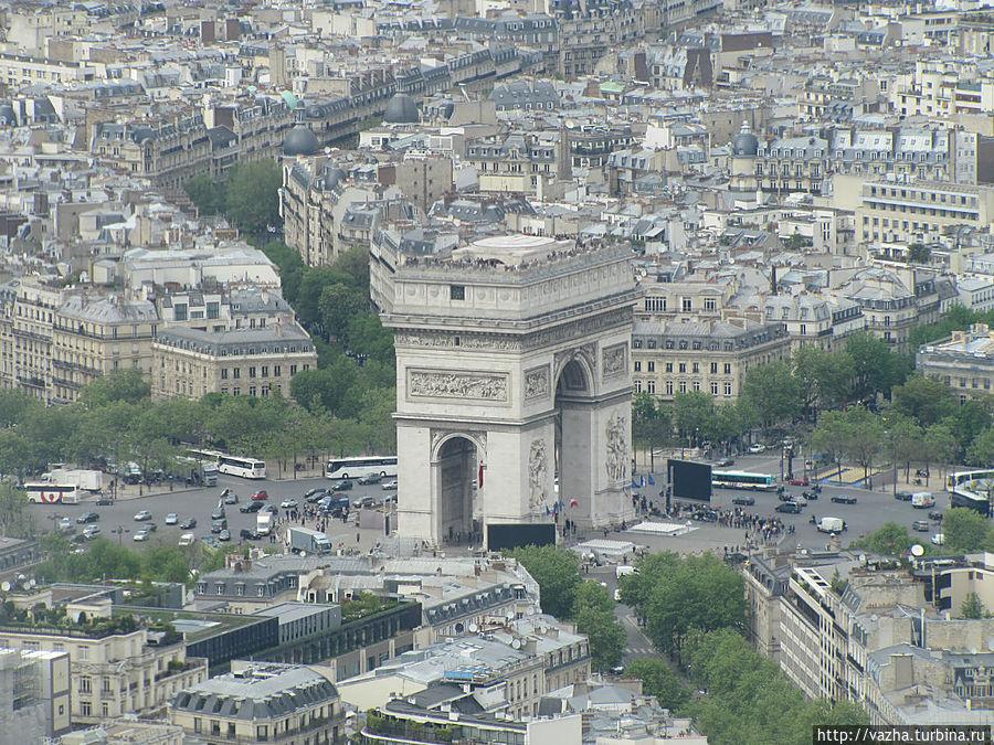 Арка построена 1806 1836 годах архитектором Жаном Шальгреном по приказу Наполеона Париж, Франция