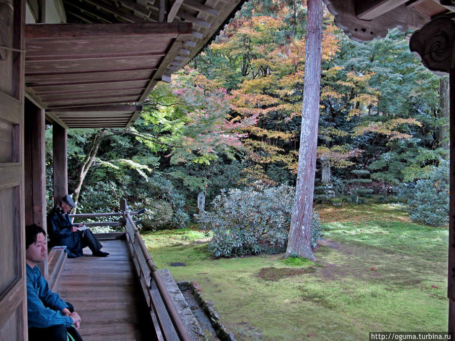 В саду храма Санзенин Япония