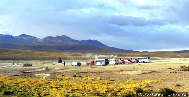 Гейзеры пустыни Атакама Сан-Педро-де-Атакама, Чили