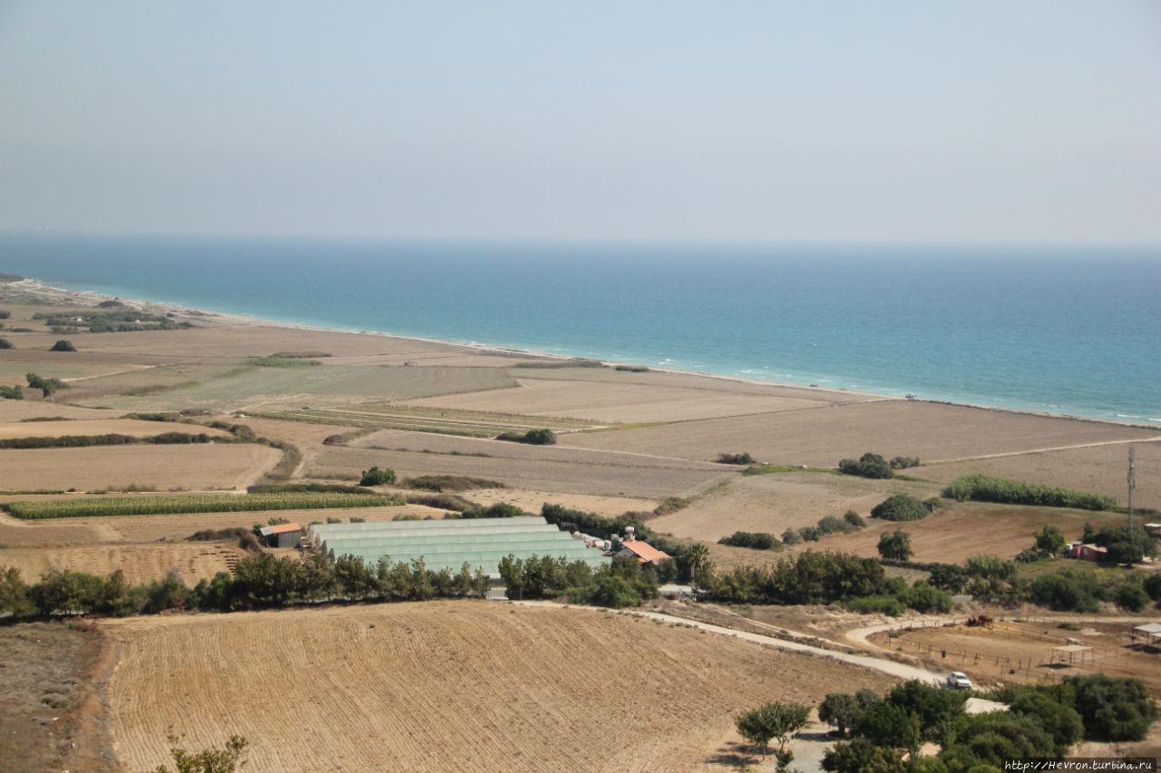 Вид из жилища Эвстолия Античный город Курион, Акротири и Декелия