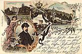 Старинная открытка с изображением Людвига 2.