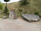 Одним из самых интересных экспонатов в Золочевском замке являются камни с зашифрованными надписями. Надписи, датированные концом XIV — началом XV веков, пока не расшифрованы. Камни привезли в 2000 году с окраины Золочева — села Новоселки. Предполагают, что надписи могли быть сделаны тамплиерами, которым также мог принадлежать замок, руины которого сохранились в окрестностях Новоселок.