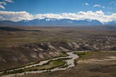 Долина мутного Чаган-Узуна и белые глины. Молочная река и суфлешные берега.