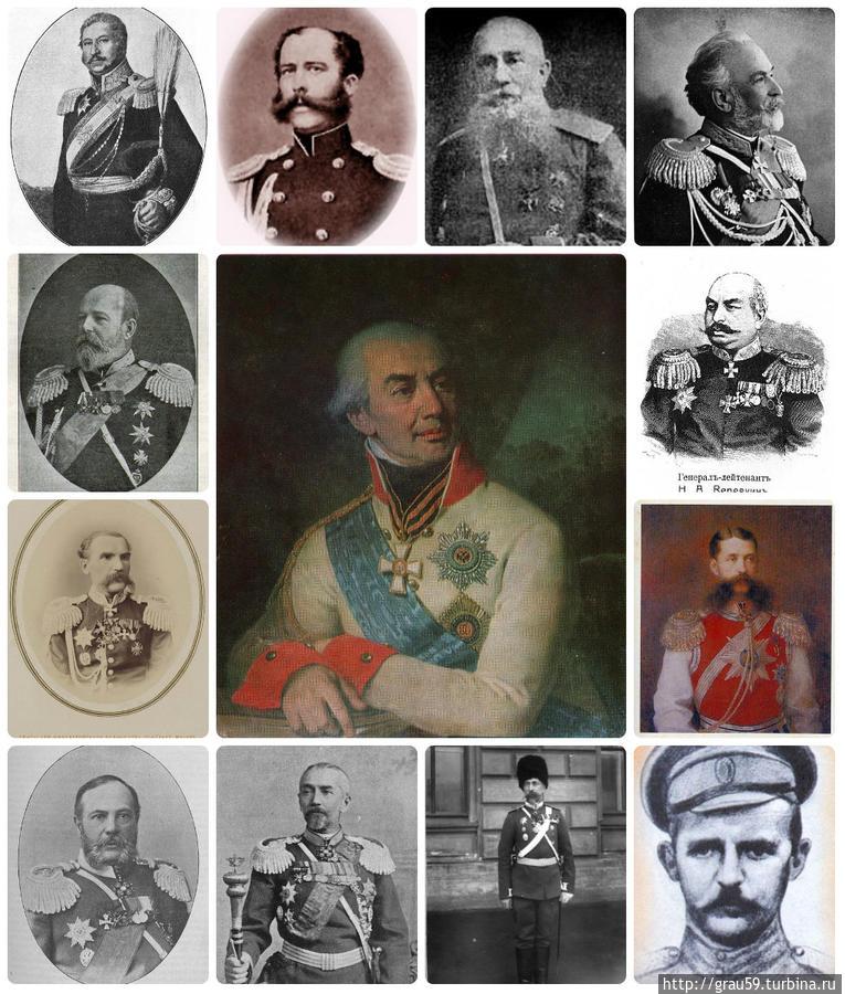 Наказные атаманы Уральского казачьего войска. В середине оренбургский губернатор Г.С. Волконский