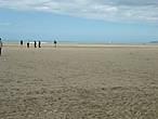 На песчаном пляже