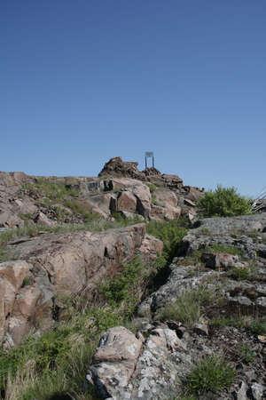 Финны выдалбливали ходы сообщения в гранитных скалах