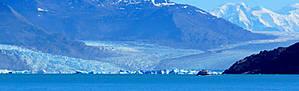а такое озеро на западе, там, где в него стекают огромные ледники