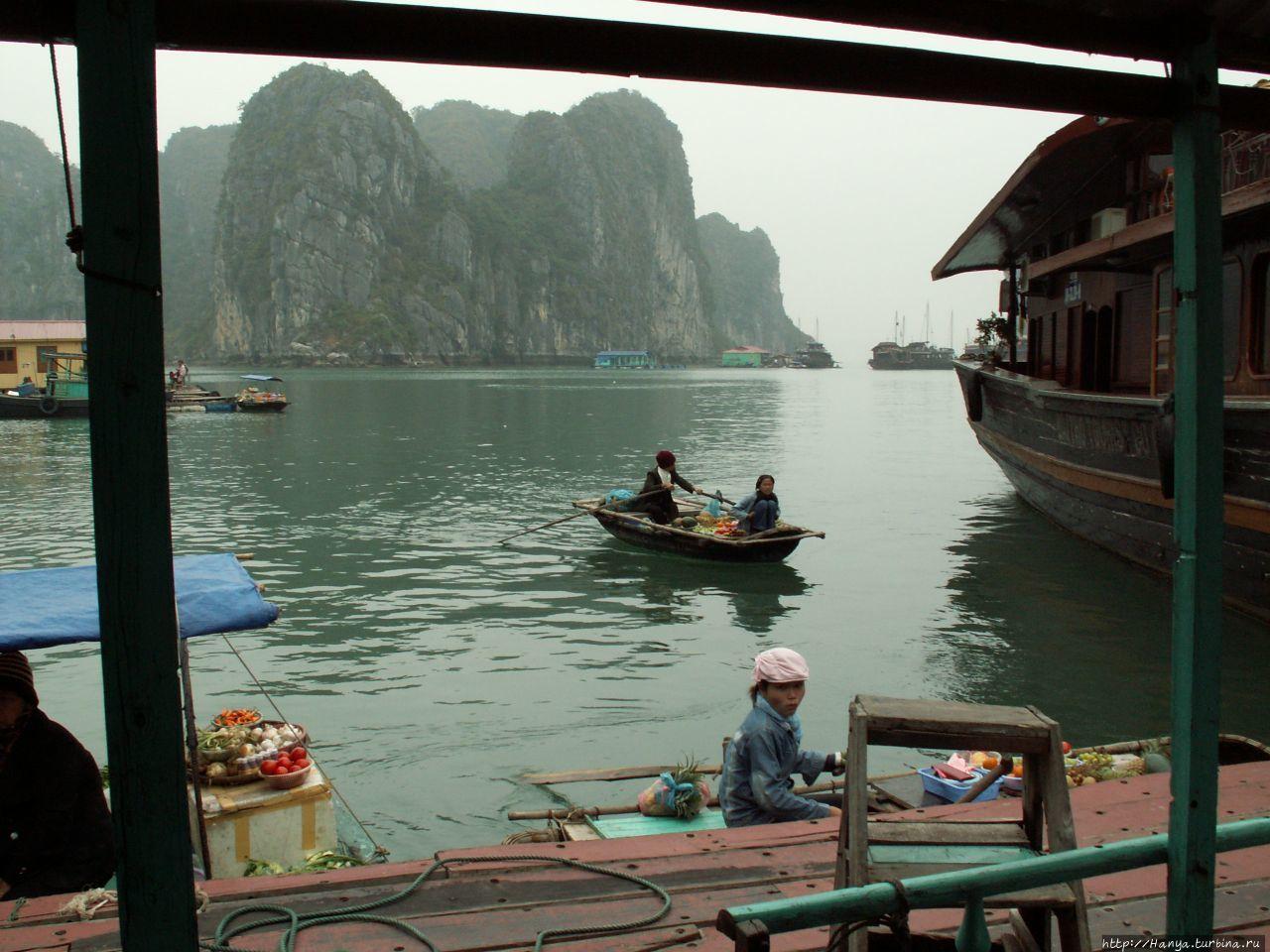 Бухта Халонг, пещерные гроты, плавучий рынок и обед. Часть 6 Халонг бухта, Вьетнам