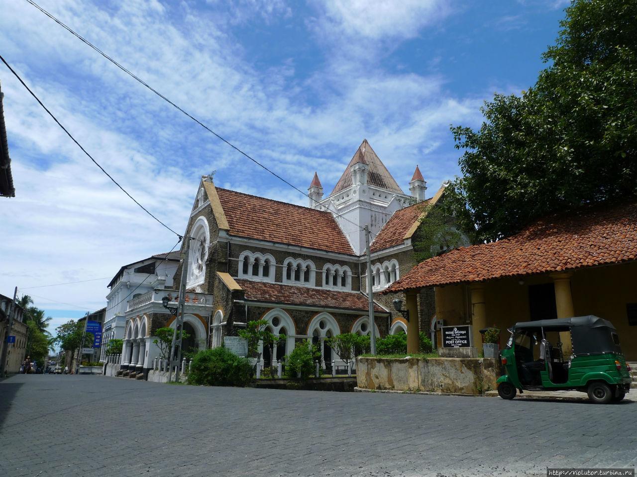 Форт Галле, солнце и очарование построек 17-го века Галле, Шри-Ланка