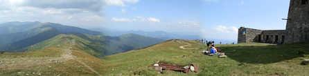 Панорамный вид Черногорского хребта