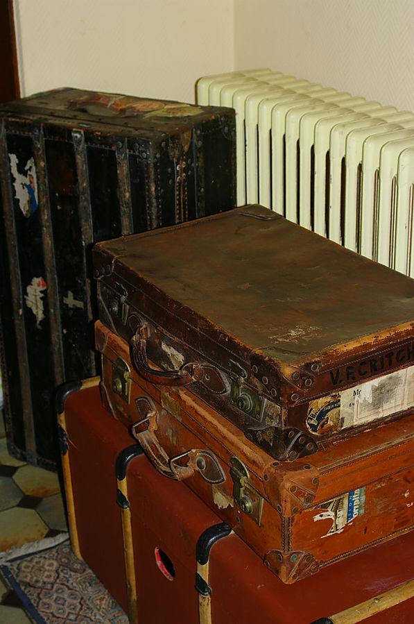 Винтажные чемоданы. Обожаю их :)